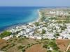 Foto aerea spiaggia di Pescoluse