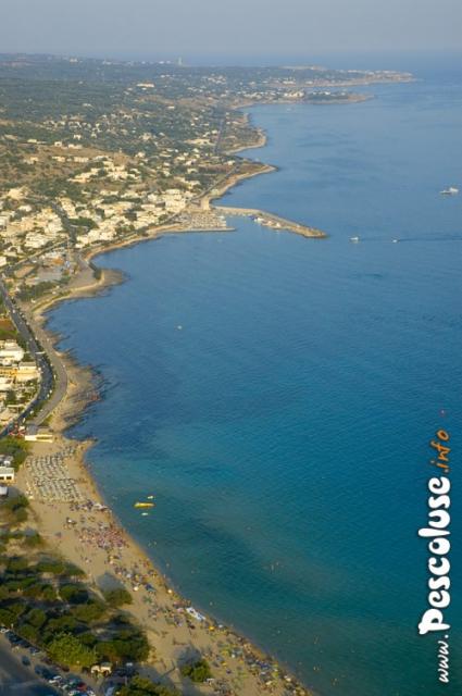Foto aerea spiaggia