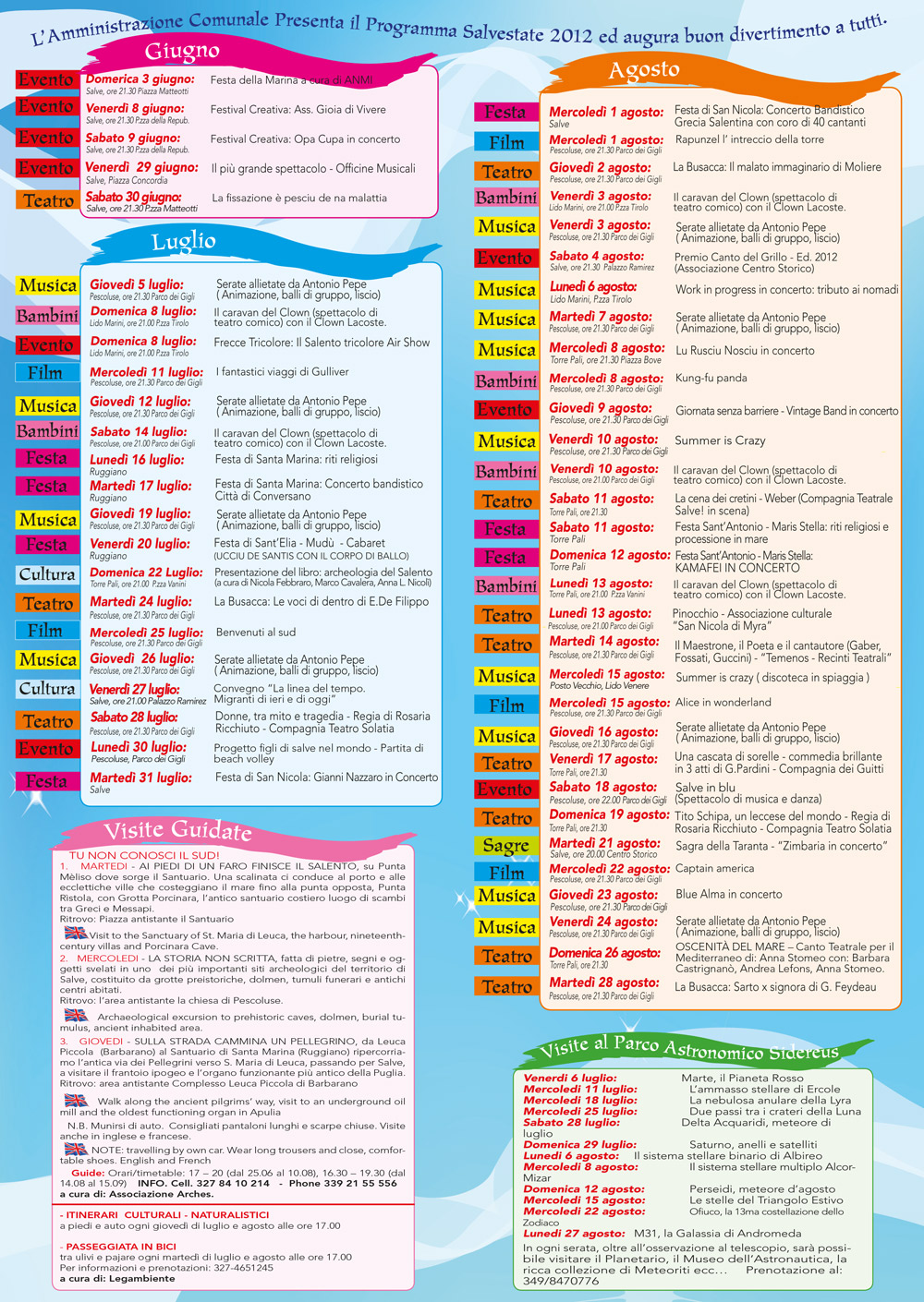 Tutti gli eventi Salvestate 2012