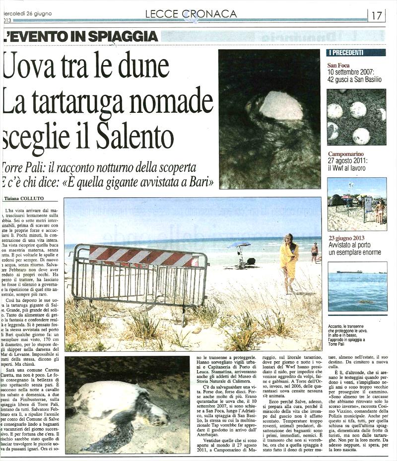 Articolo Quotidiano mercoledì 26 giugno 2013