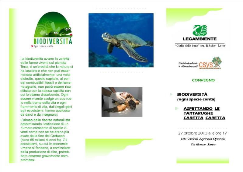 Biodiversità ogni specie conta