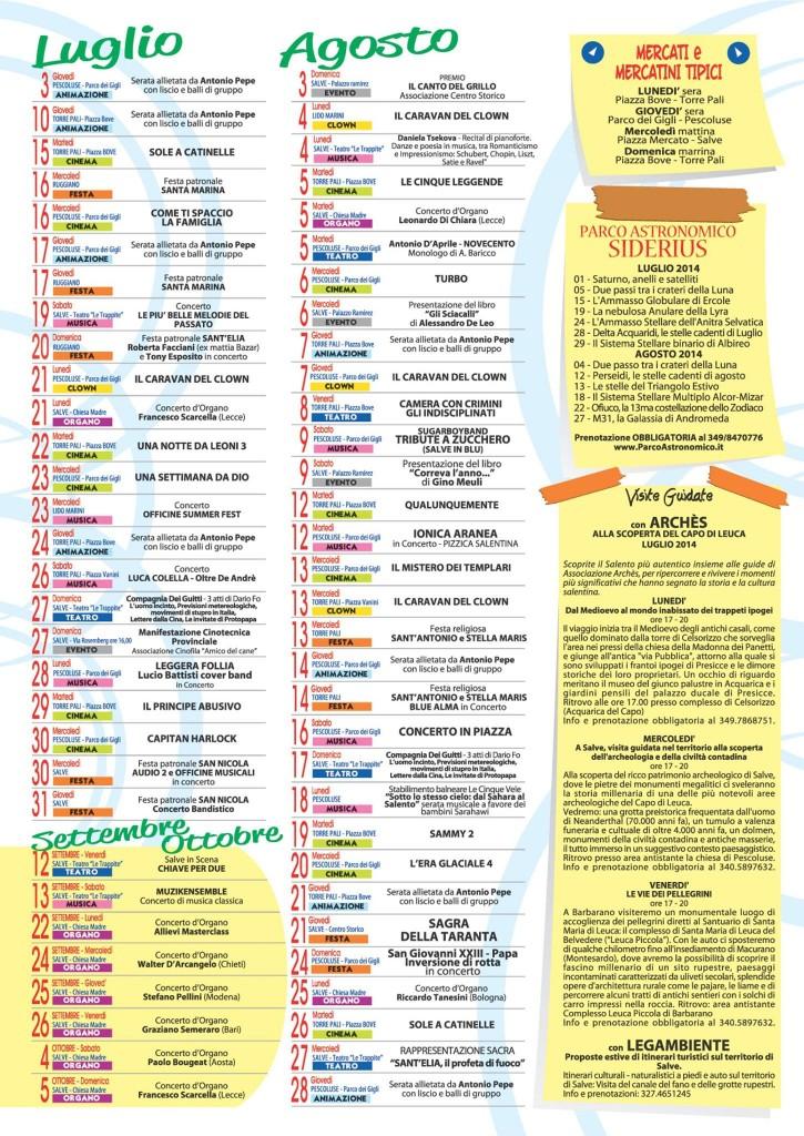 Programma Salvestate 2014 Pescoluse