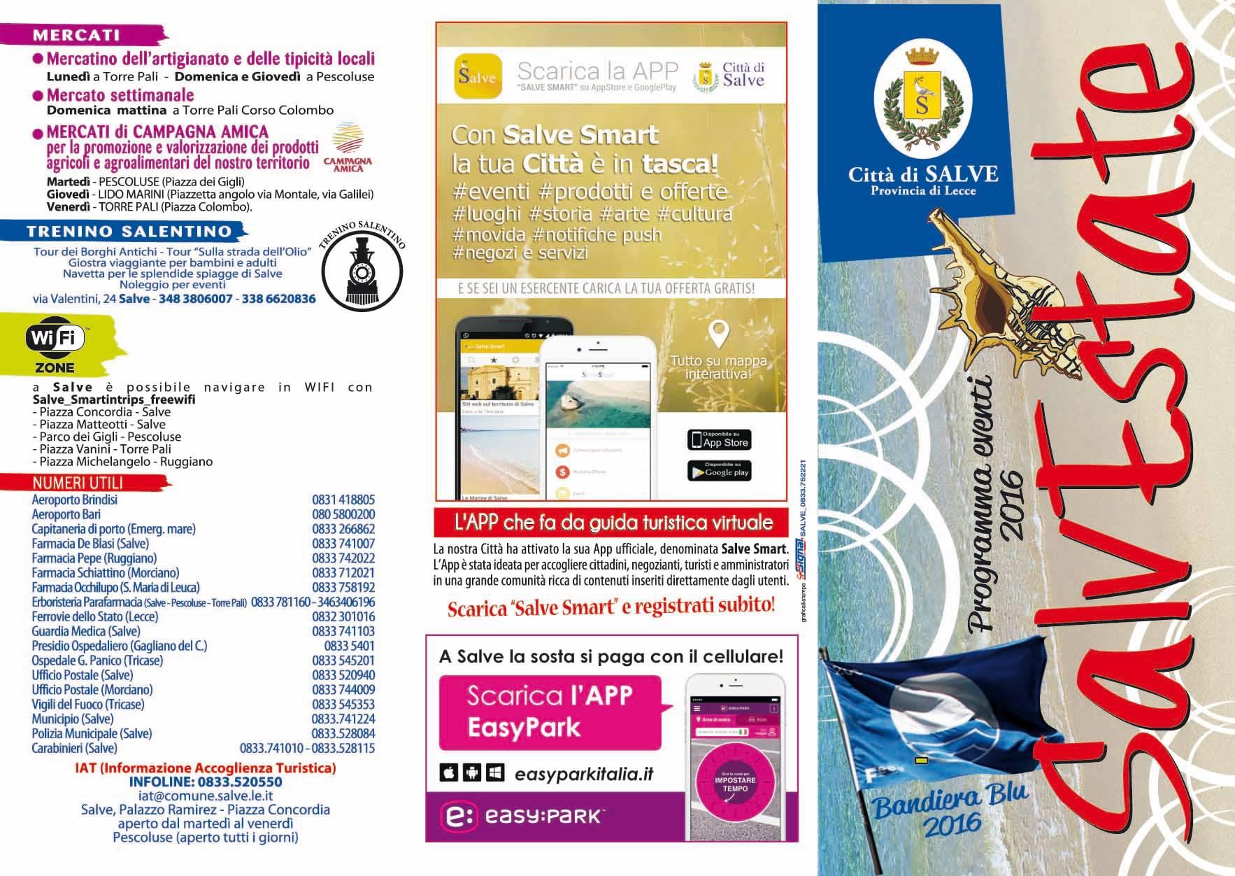 Programma Eventi Salvestate 2016