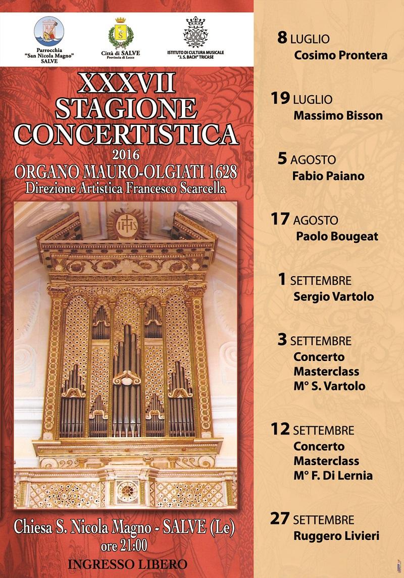 XXXVII Stagione Concertistica Organo Salve